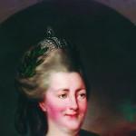 Екатерина II на прогулке в Царскосельском парке