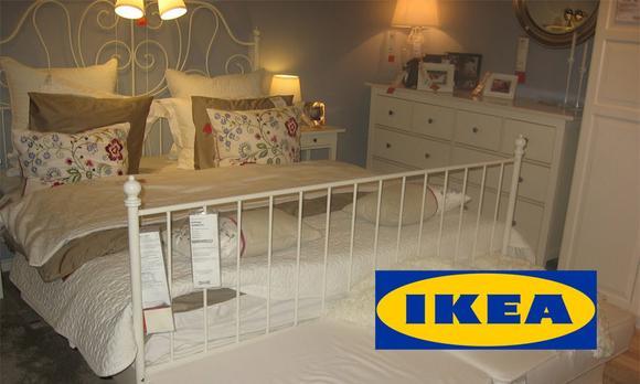 Кованая кровать икеа в интерьере фото